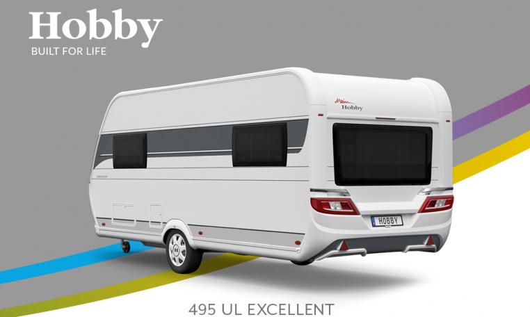 Hobby Excellent 495 UL model 2022 Cannenburg Back buitenkant