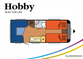 Hobby Excellent 495 UL model 2022 Cannenburg plattegrond