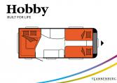 Hobby Excellent 495 UL model 2022 Cannenburg plattegrond slapen