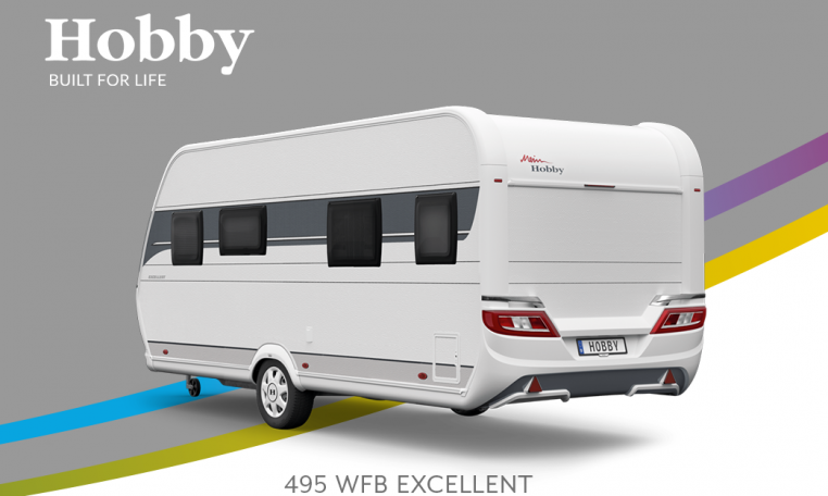 Hobby Excellent 495 WFB model 2022 Cannenburg Back buitenkant
