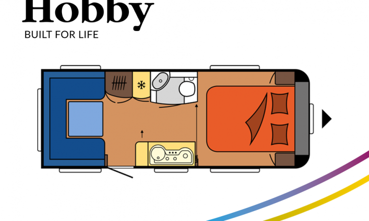 Hobby Excellent 540 UFf model 2022 Cannenburg plattegrond