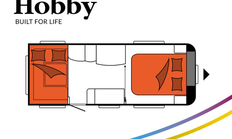 Hobby Excellent 540 UFf model 2022 Cannenburg plattegrond slapen