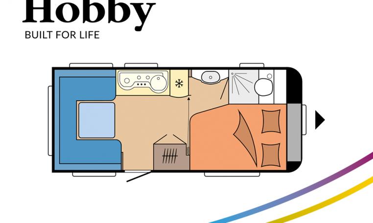 Hobby Excellent Edition 460 UFe model 2022 Cannenburg plattegrond
