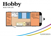 Hobby Excellent Edition 490 KMF model 2022 Cannenburg plattegrond