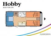 Hobby ONTOUR 460 DL model 2022 Cannenburg plattegrond