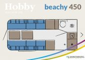 hobby Beachy 450 plattegrond model 2022