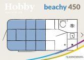 hobby Beachy 450 plattegrond slapen model 2022