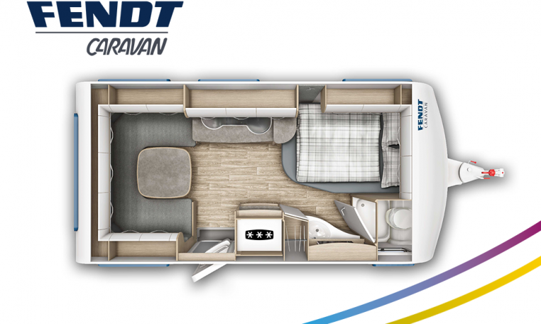 Fendt Bianco Active 445 SFB model 2022 plattegrond bedden slapen
