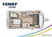 Fendt Bianco Active 465 SFH model 2022 plattegrond bedden slapen