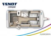 Fendt Bianco Active 465 SGE model 2022 plattegrond bedden slapen