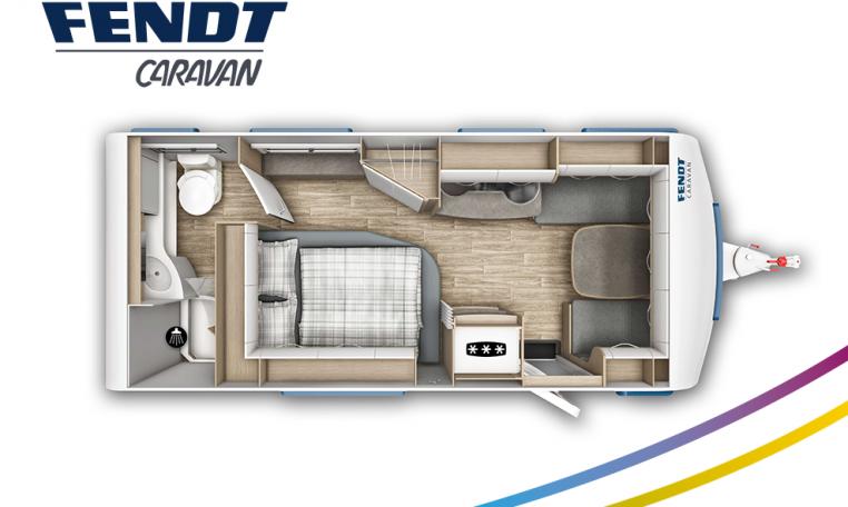Fendt Bianco Active 515 SD model 2022 plattegrond bedden slapen