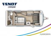 Fendt Bianco Active 550 SD model 2022 plattegrond bedden slapen