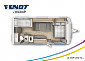 Fendt Bianco Active 560 SKM model 2022 plattegrond bedden slapen