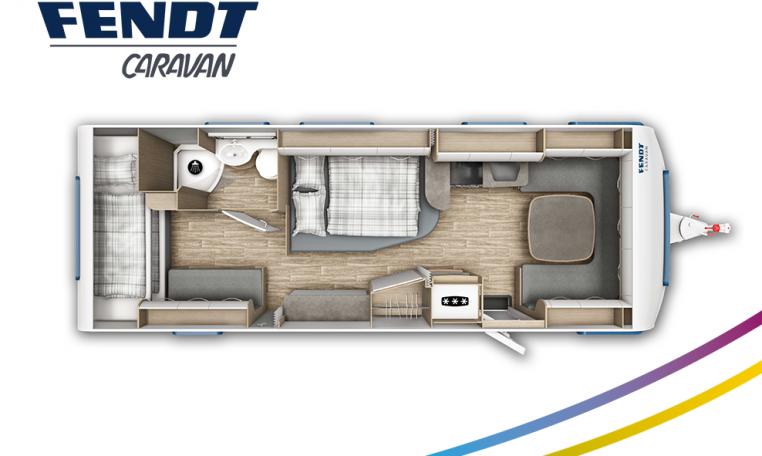 Fendt Bianco Active 720 SKDW model 2022 plattegrond bedden slapen