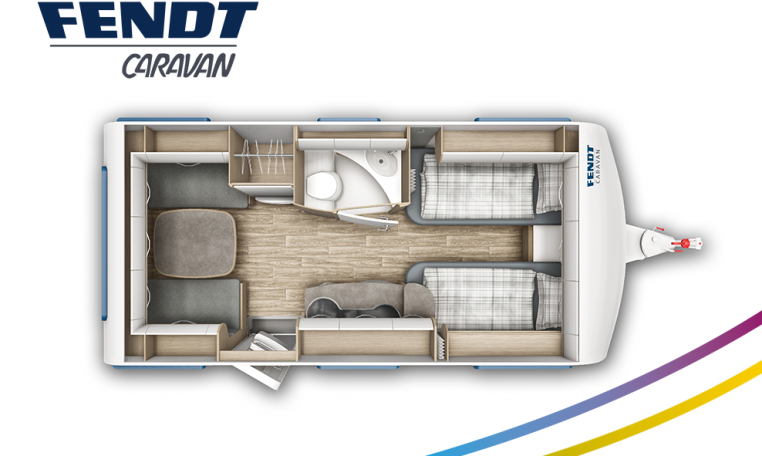 Fendt Bianco Selection 465 TG model 2022 plattegrond bedden slapen