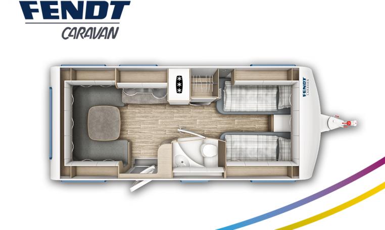 Fendt Bianco Selection 515 SG model 2022 plattegrond bedden slapen