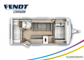 Fendt Bianco Selection 515 SKM model 2022 plattegrond bedden slapen