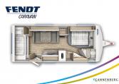 Fendt Bianco Selection 550 SKM model 2022 plattegrond bedden slapen
