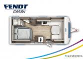 Fendt Diamant 560 SF model 2022 plattegrond bedden slapen