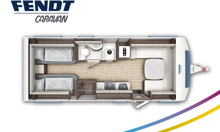 Fendt Diamant 650 SGD model 2022 plattegrond bedden slapen