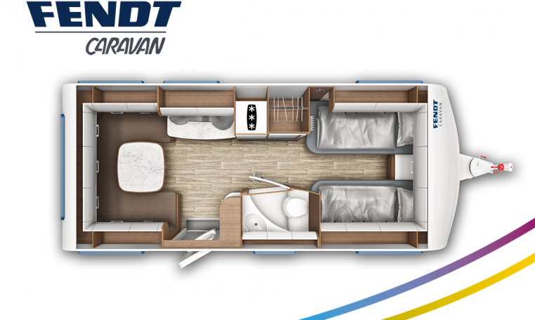 Fendt Opal 515 SG model 2022 plattegrond bedden slapen