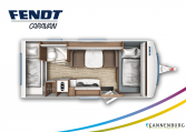 Fendt Opal 515 SKF model 2022 plattegrond bedden slapen