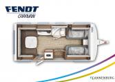 Fendt Opal 560 SG model 2022 plattegrond bedden slapen
