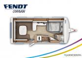 Fendt Opal 560 SRF model 2022 plattegrond bedden slapen