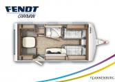 Fendt Saphir 465 TG model 2022 plattegrond bedden slapen
