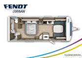 Fendt Tendenza 650 SFD model 2022 plattegrond bedden slapen