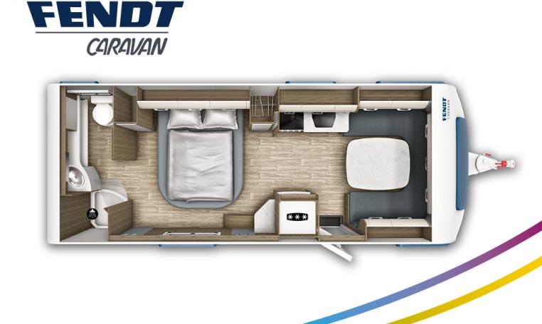 Fendt Tendenza 650 SFDW model 2022 plattegrond bedden slapen