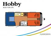 Hobby Excellent 540 UL model 2022 Cannenburg Plattegrond