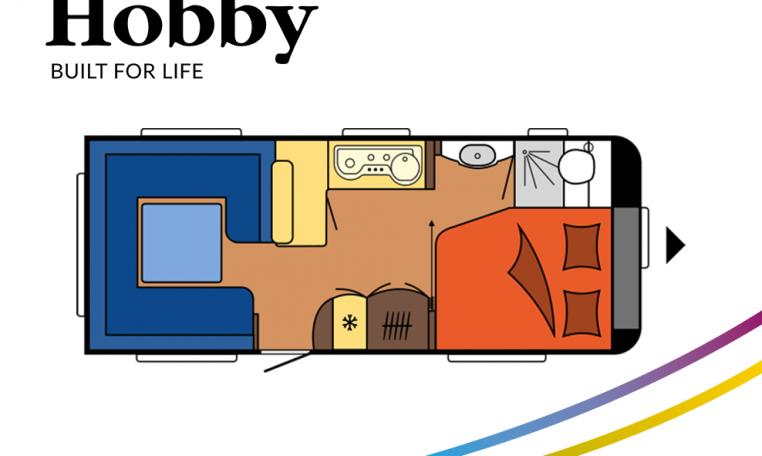 Hobby Excellent 560 CFe model 2022 Cannenburg Plattegrond