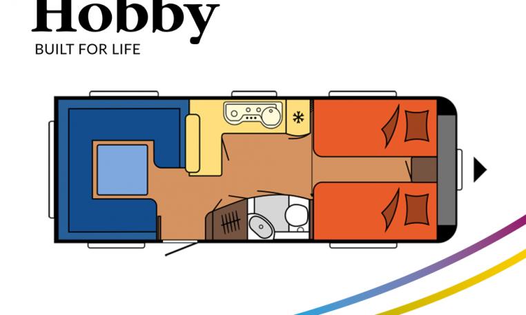 Hobby Excellent 620 CL model 2022 Cannenburg Plattegrond