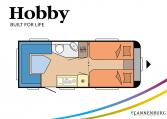 Hobby MAXIA 495 UL model 2022 Cannenburg plattegrond