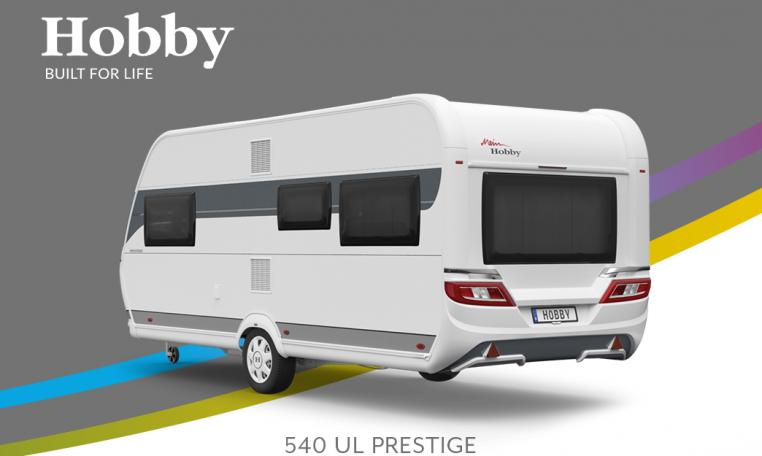 Hobby Prestige 540 UL model 2022 Cannenburg Back buitenkant