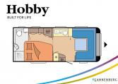 Hobby Prestige 560 WFU model 2022 Cannenburg plattegrond