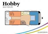 Hobby Prestige 560 WLU model 2022 Cannenburg plattegrond
