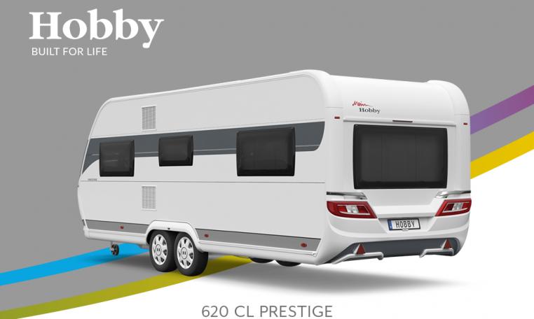 Hobby Prestige 620 CL model 2022 Cannenburg Back buitenkant
