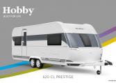 Hobby Prestige 620 CL model 2022 Cannenburg Front buitenkant