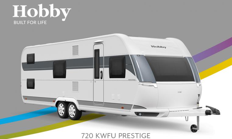 Hobby Prestige 720 KWFU model 2022 Cannenburg Front buitenkant