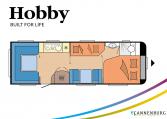 Hobby Prestige 720 UKFe model 2022 Cannenburg plattegrond