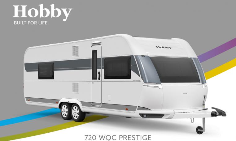 Hobby Prestige 720 WQC model 2022 Cannenburg Front buitenkant