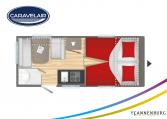 Plattegrond slapen caravelair alba 472 model 2022