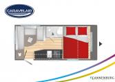Plattegrond slapen caravelair alba style 430 model 2022
